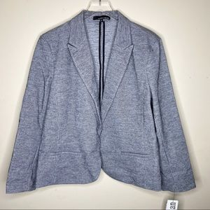 Amanda & Chelsea Grey Office Blazer Jacket 2X
